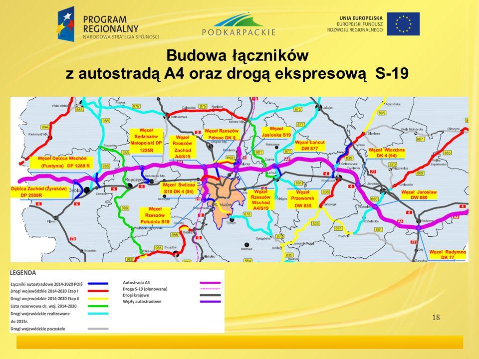Budowa łączników z autostradą A4 oraz drogą ekspresową S-19 18