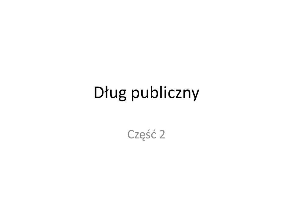 Dług publiczny Część 2