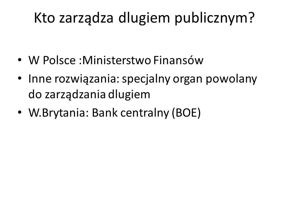 Kto zarządza dlugiem publicznym.
