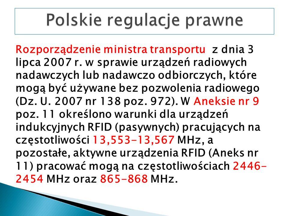 Rozporządzenie ministra transportu z dnia 3 lipca 2007 r.