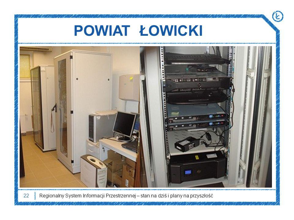 POWIAT ŁOWICKI Regionalny System Informacji Przestrzennej – stan na dziś i plany na przyszłość22