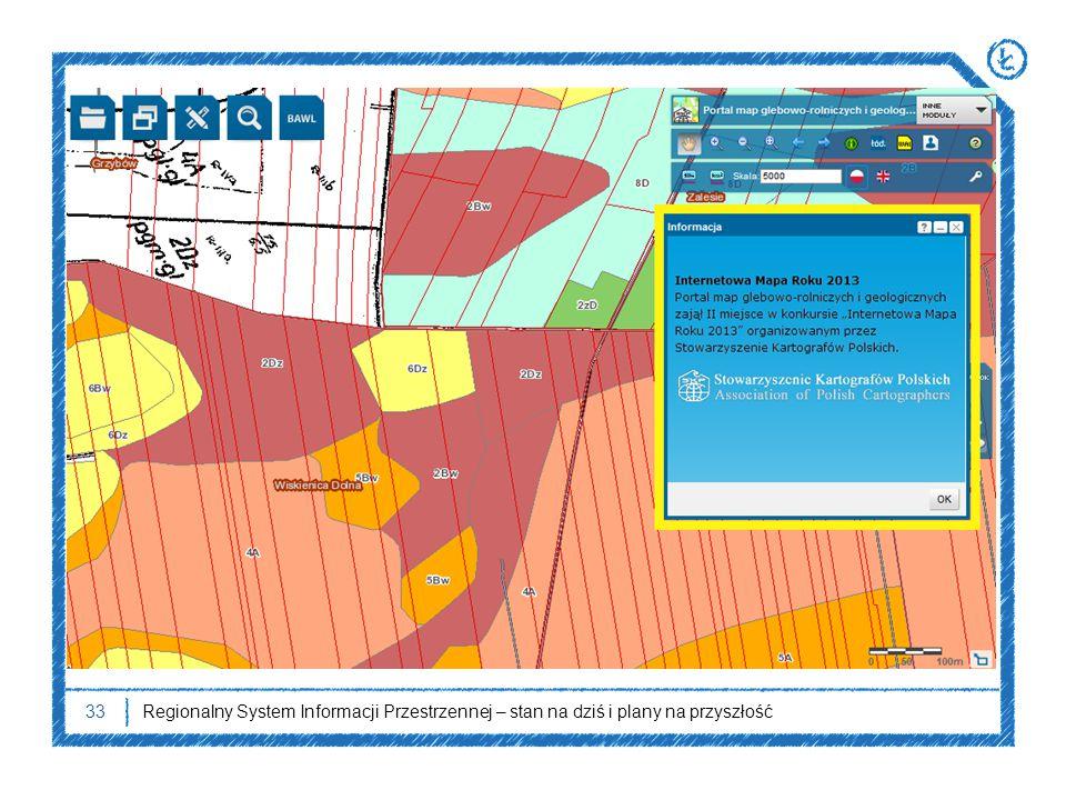 33Regionalny System Informacji Przestrzennej – stan na dziś i plany na przyszłość