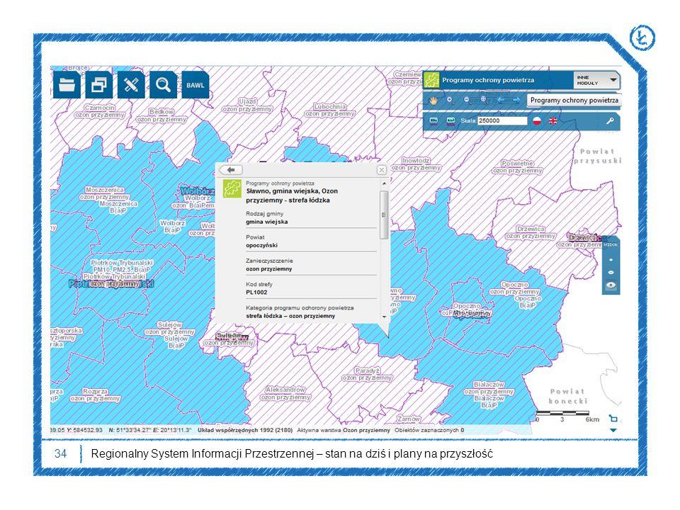 34Regionalny System Informacji Przestrzennej – stan na dziś i plany na przyszłość
