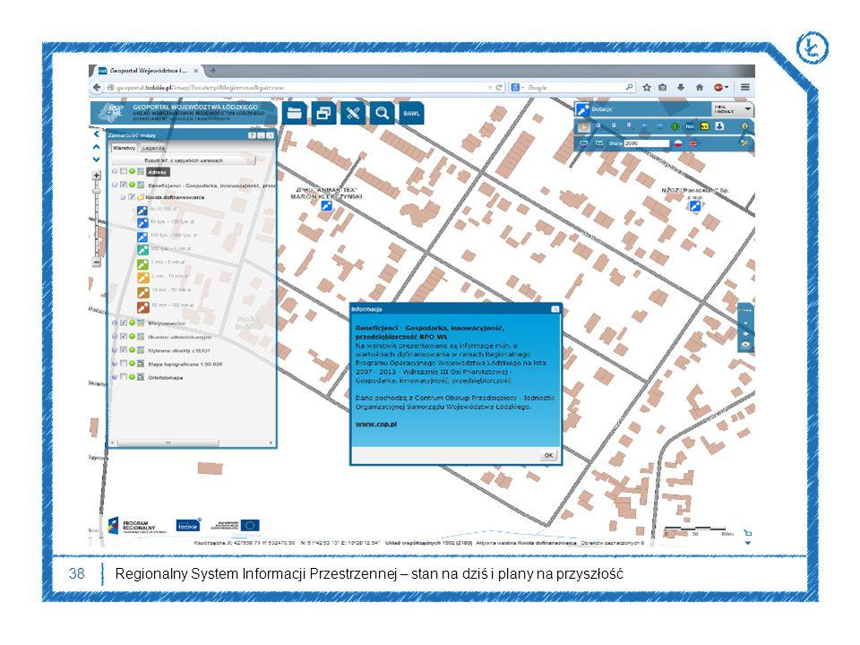 38Regionalny System Informacji Przestrzennej – stan na dziś i plany na przyszłość