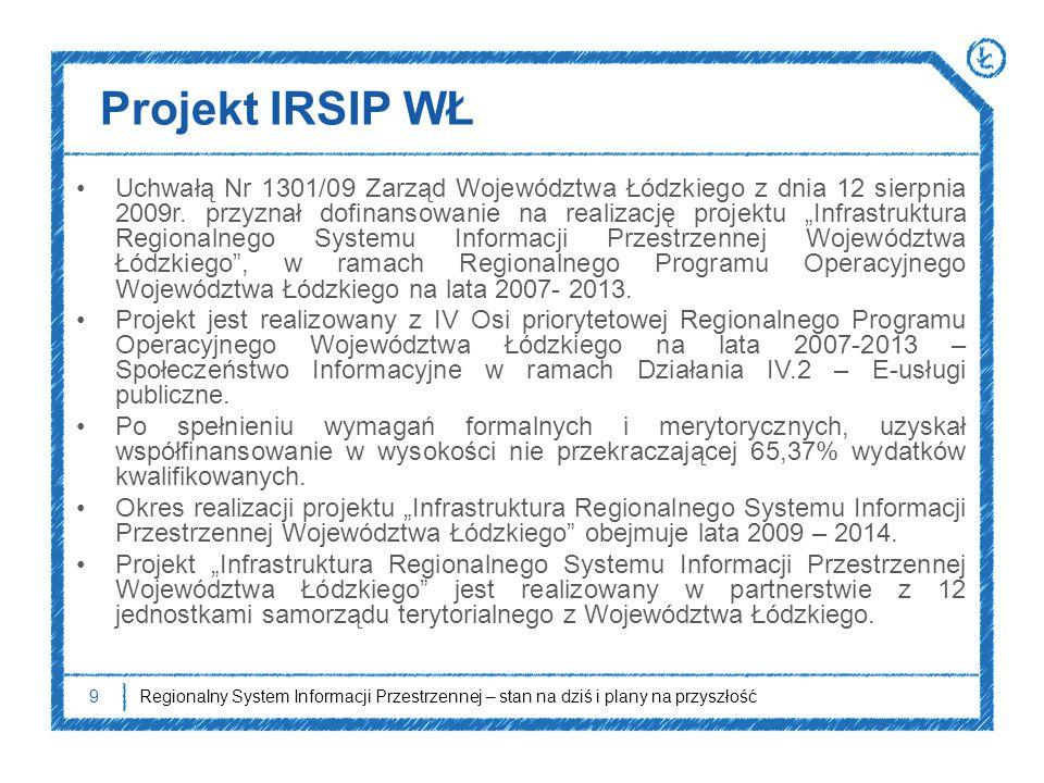 """Projekt IRSIP WŁ Uchwałą Nr 1301/09 Zarząd Województwa Łódzkiego z dnia 12 sierpnia 2009r. przyznał dofinansowanie na realizację projektu """"Infrastrukt"""