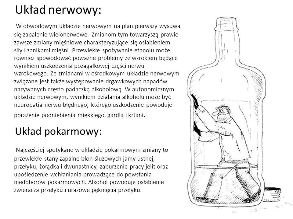 : Układ nerwowy: W obwodowym układzie nerwowym na plan pierwszy wysuwa się zapalenie wielonerwowe.