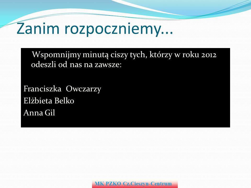 Był to jeszcze jeden rok pełen naszej wspólnej aktywności i w sumie bardzo udany rok MK PZKO Cz.Cieszyn-Centrum Podsumowanie W imieniu zarządu i własnym serdecznie dziękuję.