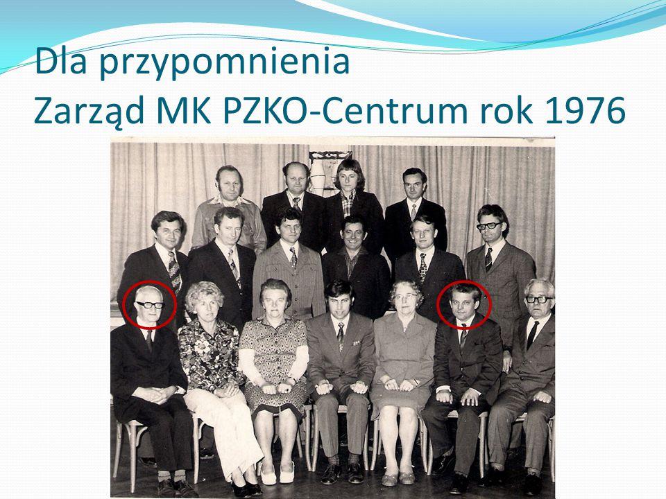 Dla przypomnienia Zarząd MK PZKO-Centrum rok 1976