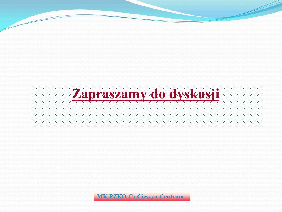 MK PZKO Cz.Cieszyn-Centrum Zapraszamy do dyskusji