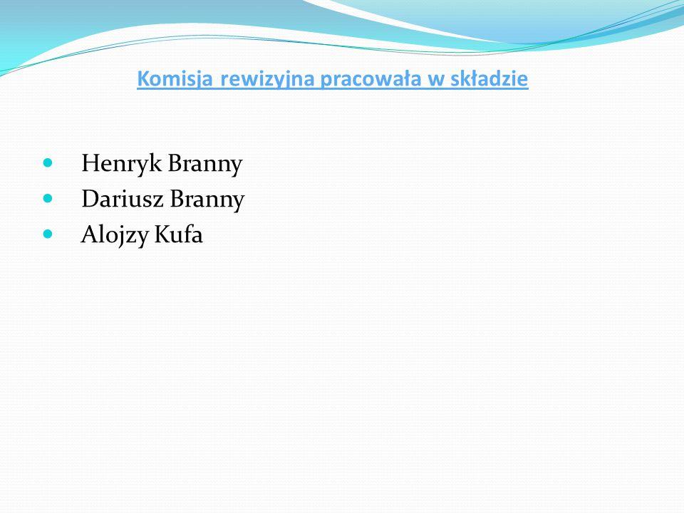 Sprawozdanie Komisji Rewizyjnej MK PZKO Czeski Cieszyn Centrum za rok 2012 Członkowie Komisji Rewizyjnej w składzie : Henryk Branny, Alojzy Kufa i Dariusz Branny uczestniczyli w zebraniach Zarządu MK.