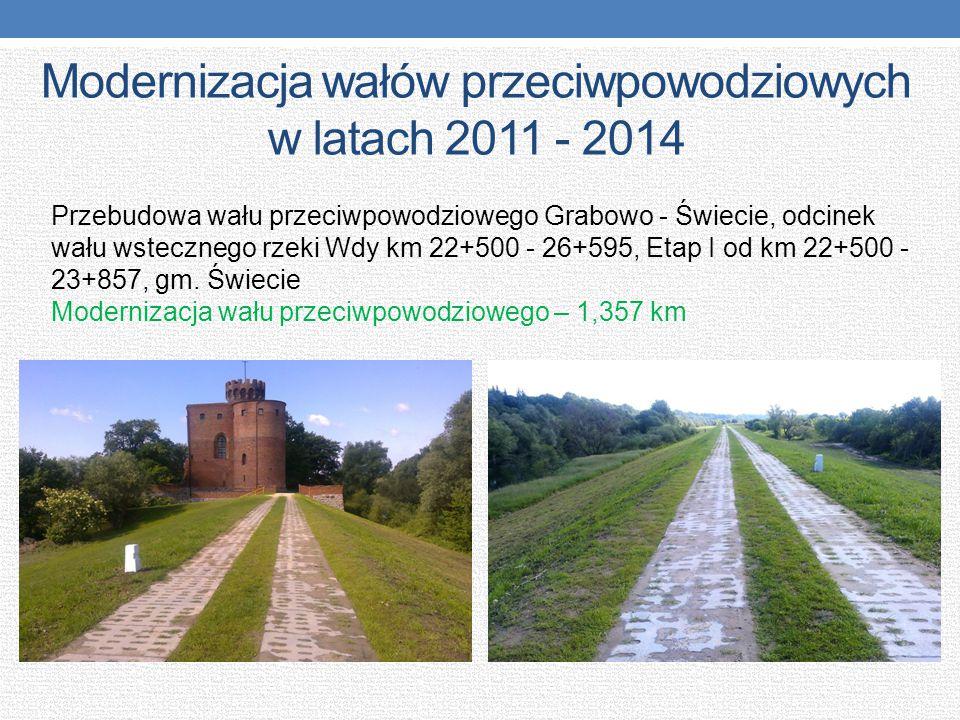 Modernizacja wałów przeciwpowodziowych w latach 2011 - 2014 Przebudowa wału przeciwpowodziowego Grabowo - Świecie, odcinek wału wstecznego rzeki Wdy k