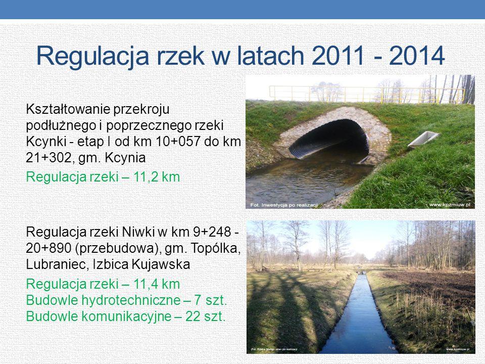 Regulacja rzek w latach 2011 - 2014 Kształtowanie przekroju podłużnego i poprzecznego rzeki Kcynki - etap I od km 10+057 do km 21+302, gm. Kcynia Regu