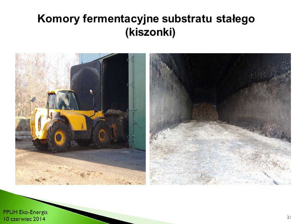 21 Komory fermentacyjne substratu stałego (kiszonki) PPUH Eko-Energia 10 czerwiec 2014