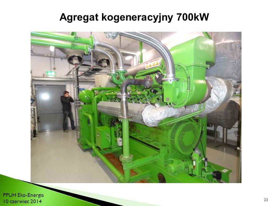 23 Agregat kogeneracyjny 700kW PPUH Eko-Energia 10 czerwiec 2014