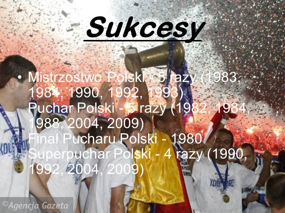 Sukcesy Mistrzostwo Polski - 5 razy (1983, 1984, 1990, 1992, 1993) Puchar Polski - 5 razy (1982, 1984, 1988, 2004, 2009) Finał Pucharu Polski - 1980 S