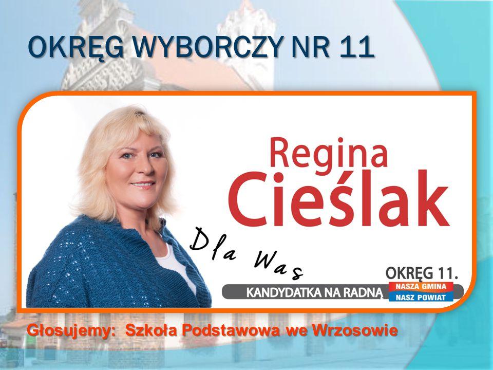 OKRĘG WYBORCZY NR 11 obejmujący sołectwa Strzeżewo, Wrzosowo, Żółcino Głosujemy: Szkoła Podstawowa we Wrzosowie
