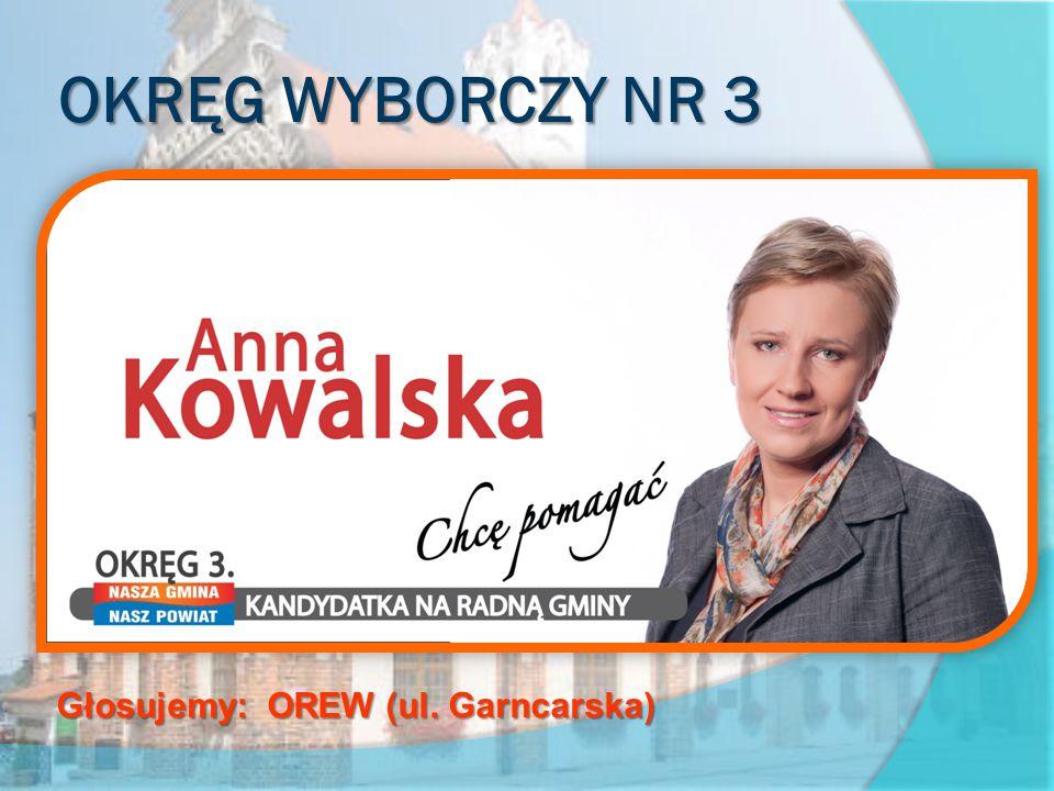 OKRĘG WYBORCZY NR 3 obejmujący ulice: Gryfitów, Piastowa, Rybacka, Stary Rynek, Staromiejska, Strzelecka Głosujemy: OREW (ul.