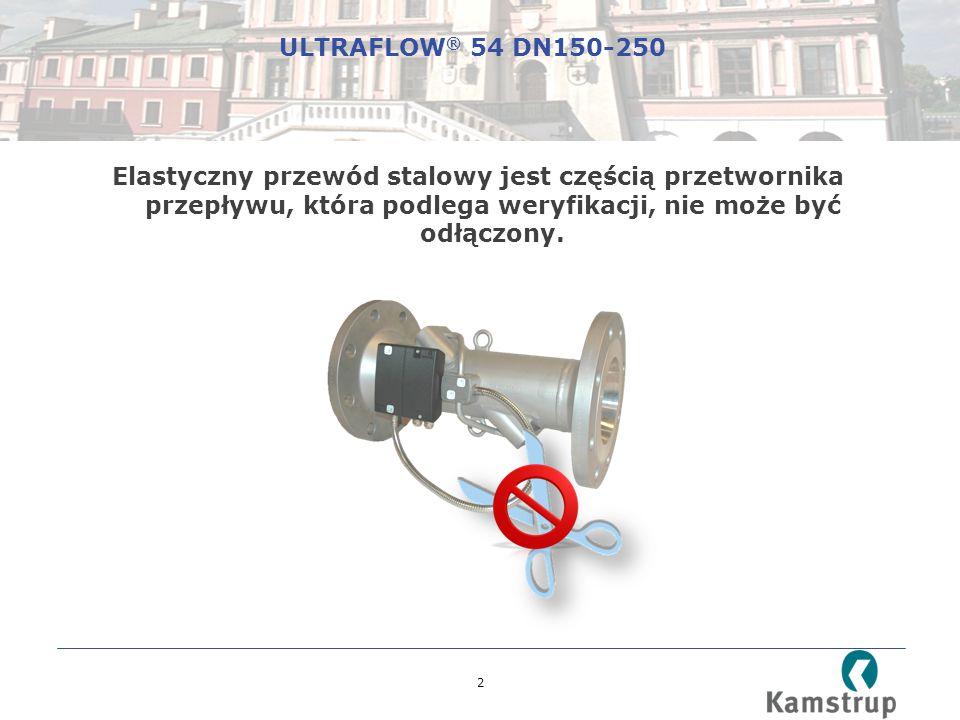 2 Elastyczny przewód stalowy jest częścią przetwornika przepływu, która podlega weryfikacji, nie może być odłączony.