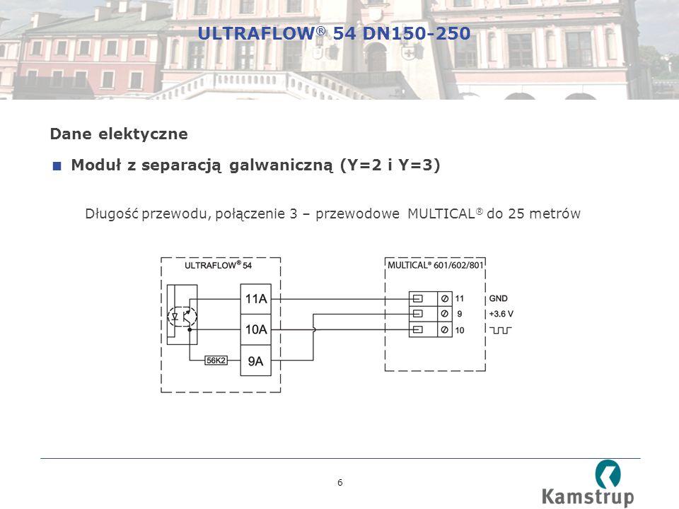 7 Połączenie 3 – przewodowe ULTRAFLOW ® 54 DN150-250