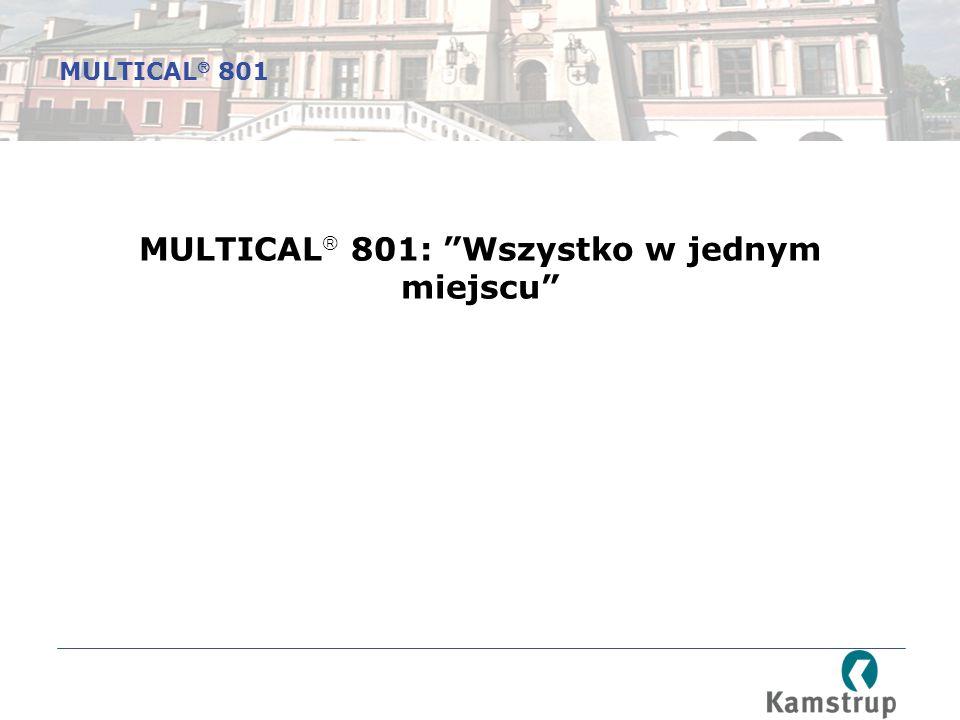 MULTICAL  801: Wszystko w jednym miejscu MULTICAL  801