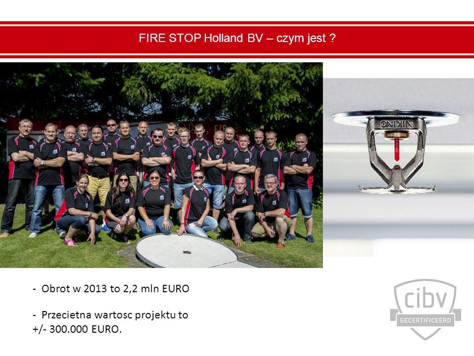 - Obrot w 2013 to 2,2 mln EURO - Przecietna wartosc projektu to +/- 300.000 EURO.