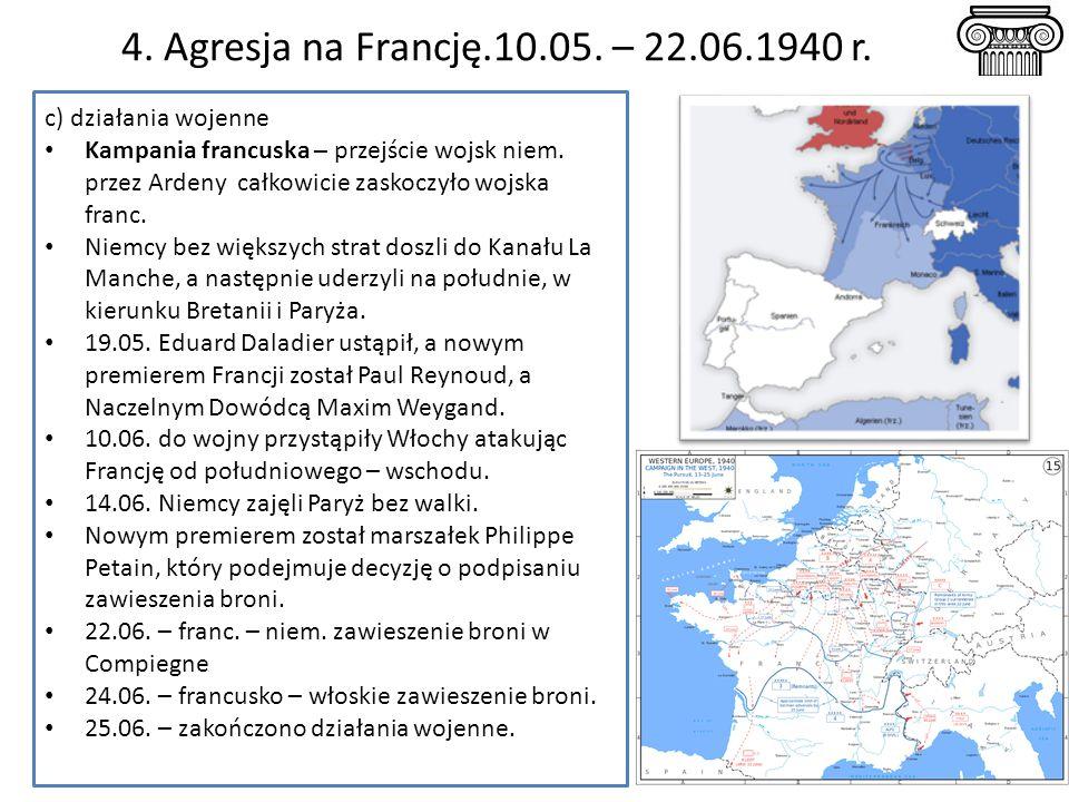 4.Agresja na Francję.10.05. – 22.06.1940 r.