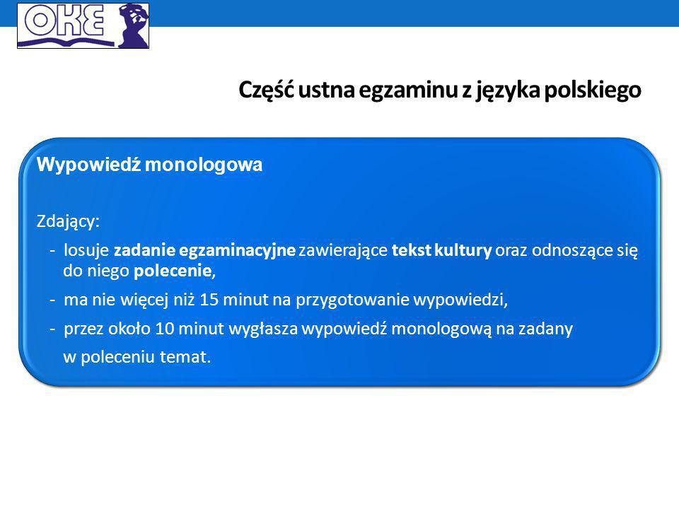 Ocenianie od 2015: kryteria zakotwiczone w formie wypowiedzi Kryteria oceniania prac pisemnych