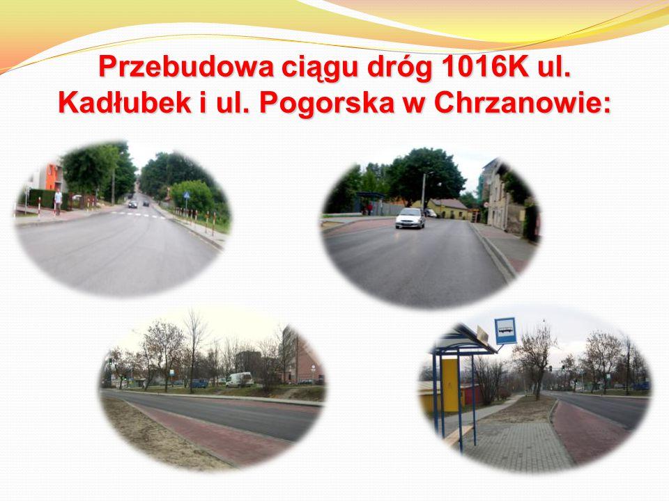 Przebudowa ciągu dróg 1016K ul. Kadłubek i ul. Pogorska w Chrzanowie: