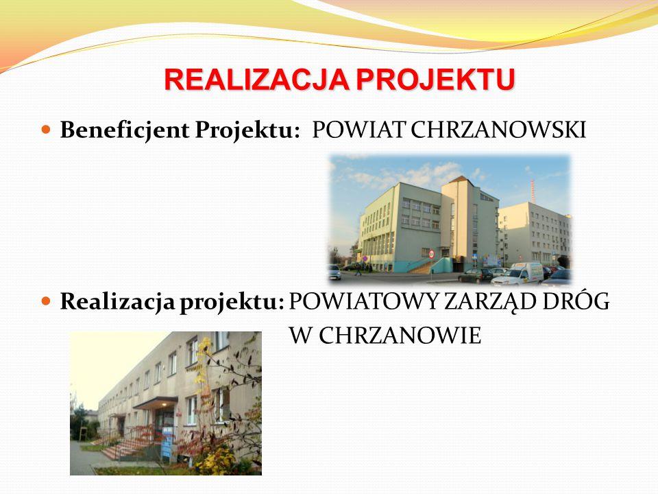 Beneficjent Projektu: POWIAT CHRZANOWSKI Realizacja projektu: POWIATOWY ZARZĄD DRÓG W CHRZANOWIE REALIZACJA PROJEKTU