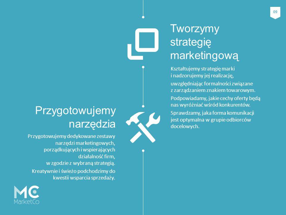 Kształtujemy strategię marki i nadzorujemy jej realizację, uwzględniając formalności związane z zarządzaniem znakiem towarowym. Podpowiadamy, jakie ce