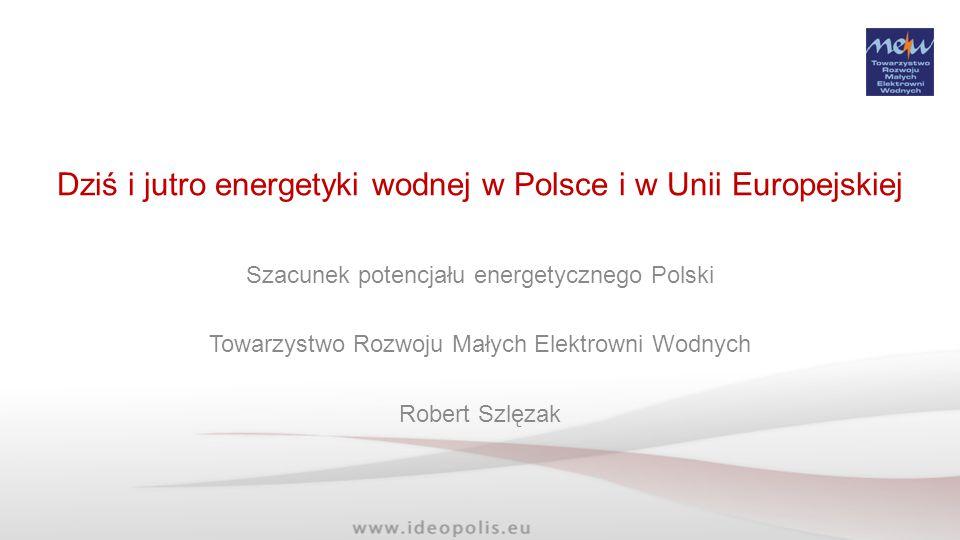 Potencjał MEW w Polsce Rok 2050 Typ Wielkość (moc zainstalowana) Orientacyjna ilość (szt.) Moc zainstalowana (MW) Szacowana produkcja w 2050 roku (GWh/rok) Piko-EWdo 10kW617543205 Nano-EWdo 40/60 kW224067320 Mikro-EWdo 300kW1120190900 Mini-EWdo 1MW300165650 Małe-EWdo 5 MW120240925 Małe-EW (EU)do 10 MW20145575 RAZEM: 9 9758503 575 Rok 2020 RAZEM: 4 3005252 083 Rok 2009/10 RAZEM: 715274920