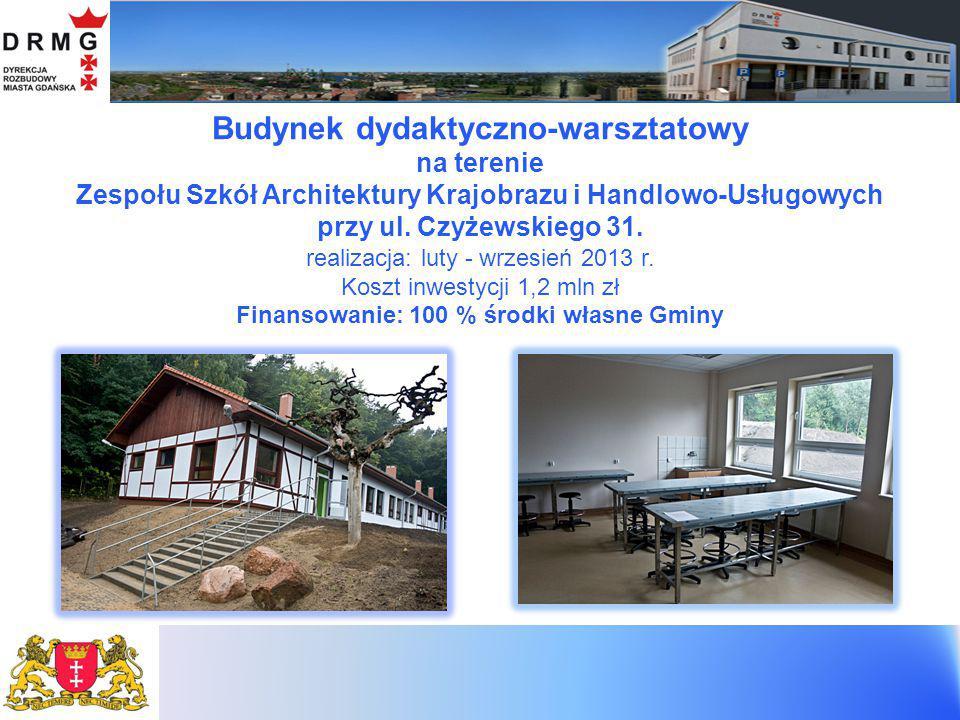 Przedszkola Modułowe 1. przy ul. Nieborowskiej – realizacja: sierpień 2010 r.– kwiecień 2011 r.