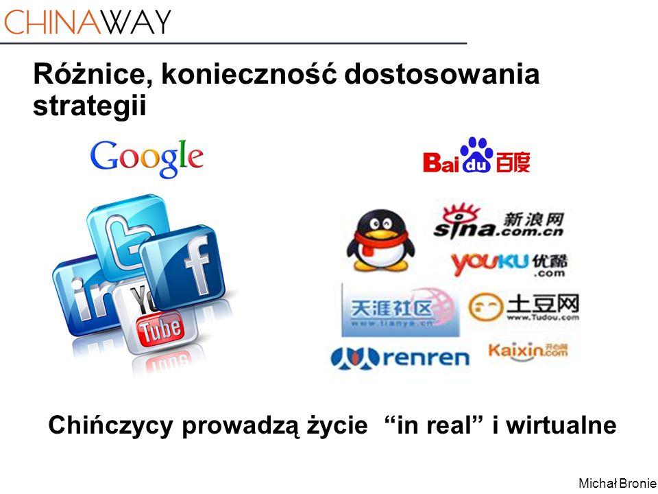 """Michał Broniek Różnice, konieczność dostosowania strategii Chińczycy prowadzą życie """"in real"""" i wirtualne"""