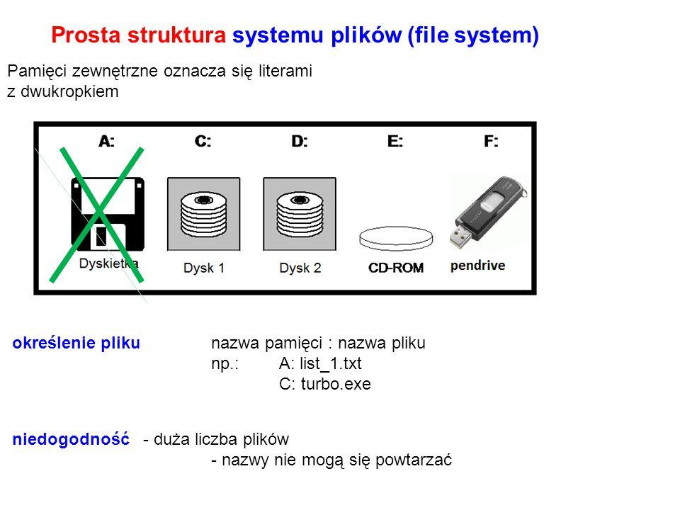 Dyskowy system plików organizacja logiczna informacji