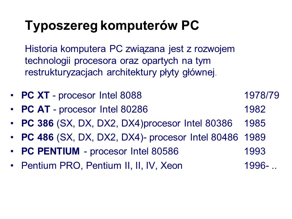 PODSTAWY INFORMATYKI Pojęcia podstawowe Nauka o komputerach i metodach ich użytkowania sprzęt (ang. hardware) oprogramowanie (ang. software) automat c