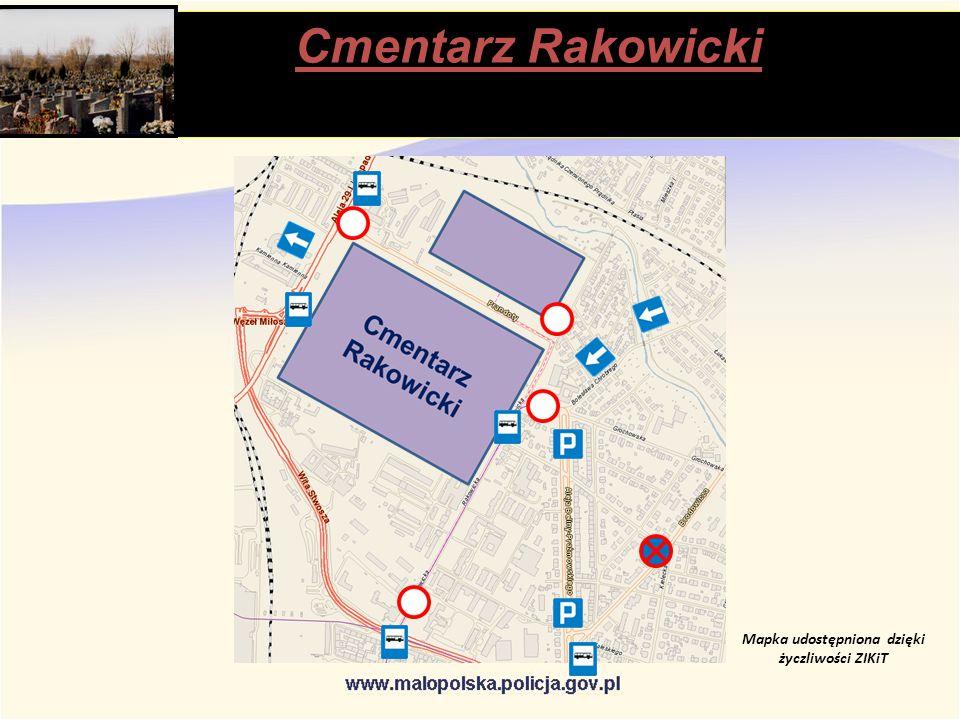 Cmentarz Rakowicki stąpią Mapka udostępniona dzięki życzliwości ZIKiT