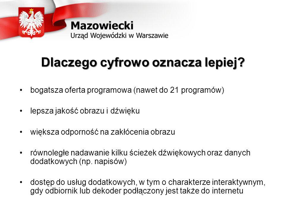 UWAGA mieszkańcy gmin Iłów, Nowa Sucha i Rybno Trzy gminy powiatu sochaczewskiego: Iłów, Nowa Sucha oraz Rybno znajdują się w zasięgu dwóch stacji nadawczych – z terenu województwa łódzkiego oraz z Raszyna koło Warszawy.