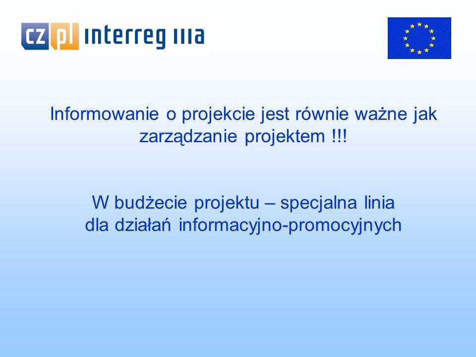 Tablica informacyjna – projekty infrastrukturalne poniżej 3 mln euro – układ tablicy jak dla billboardu – nie mniejsza niż 70 cm x 90 cm (polskie prawo budowlane) – napisy umieszczane w sposób czytelny i trwały Tablice pamiątkowe – stałe tablice w miejscach powszechnie dostępnych, cel: trwała informacja o wsparciu inwestycji z środków unijnych – zakres zamieszczanych informacji podobnie jak dla tablic informacyjnych – napisy umieszczane w sposób czytelny i trwały