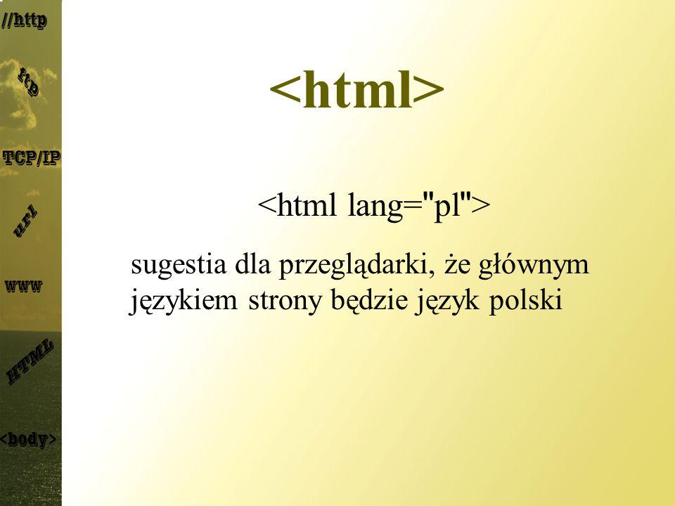 sugestia dla przeglądarki, że głównym językiem strony będzie język polski