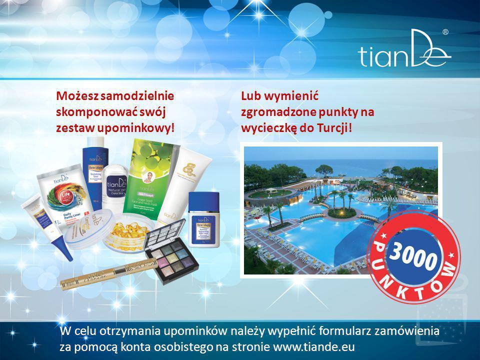 Możesz samodzielnie skomponować swój zestaw upominkowy! Lub wymienić zgromadzone punkty na wycieczkę do Turcji! W celu otrzymania upominków należy wyp