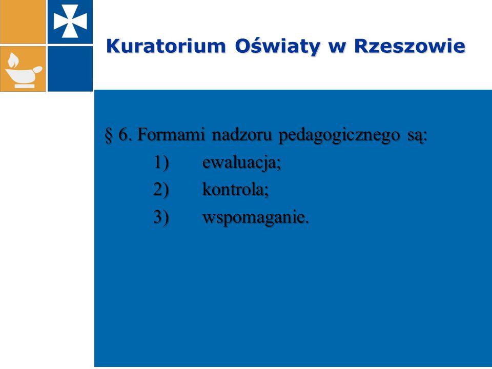 Kuratorium Oświaty w Rzeszowie Ewaluacje zewnętrzne przeprowadzone w szkołach i placówkach województwa podkarpackiego