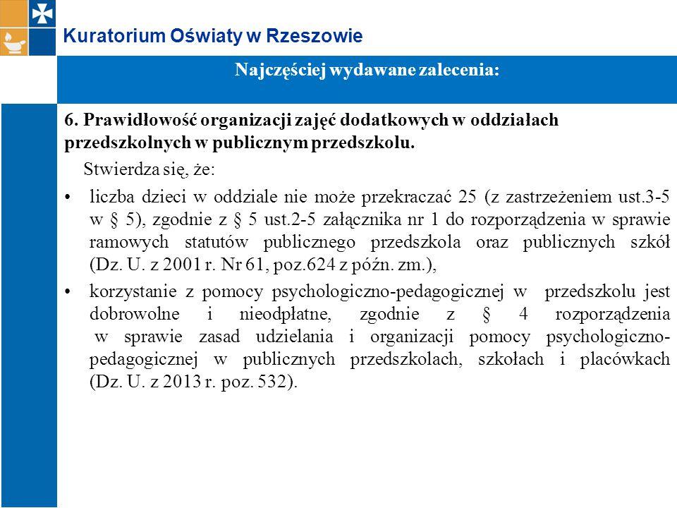 Kuratorium Oświaty w Rzeszowie 6.