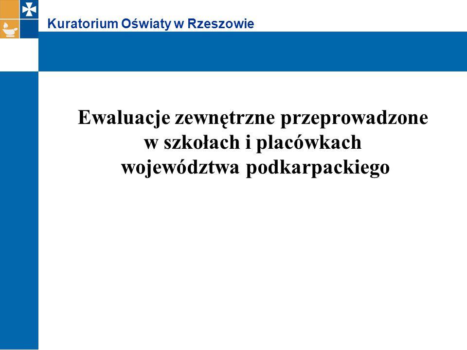 Kuratorium Oświaty w Rzeszowie Podstawą prawną realizacji zadań nadzoru pedagogicznego w formie ewaluacji jest § 7 ust.1 rozporządzenia Ministra Edukacji Narodowej z dnia 7 października 2009 roku w sprawie nadzoru pedagogicznego (Dz.U.
