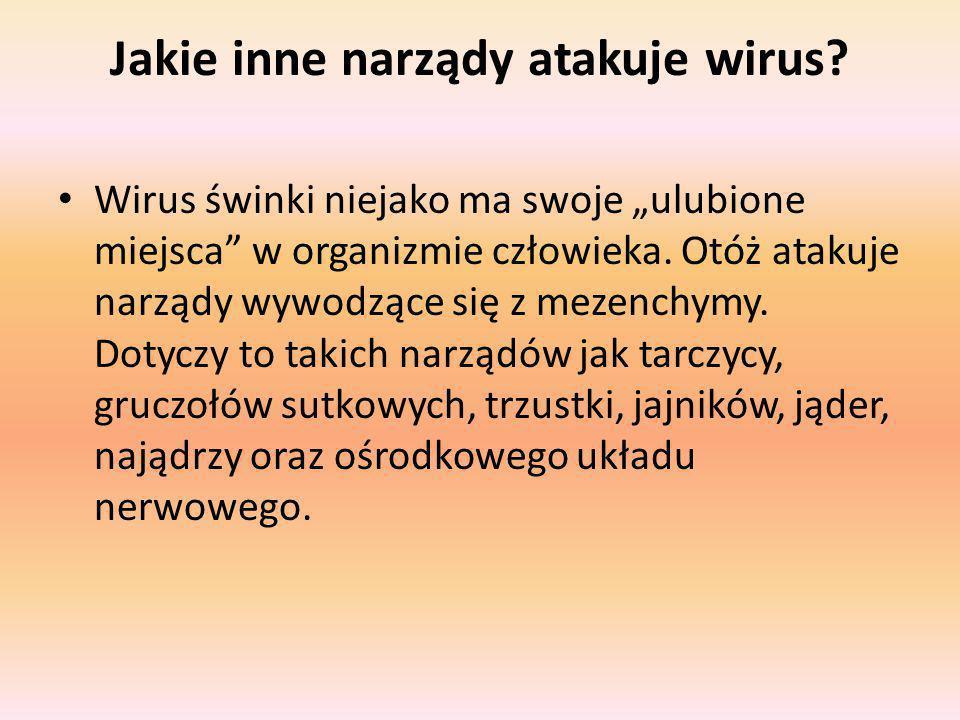 Jakie inne narządy atakuje wirus.