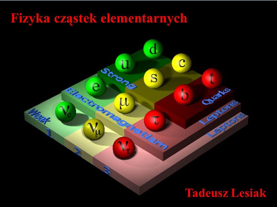 T.Lesiak Fizyka cząstek elementarnych 2 WYKŁAD II Rudymenty kwantowej teorii pola