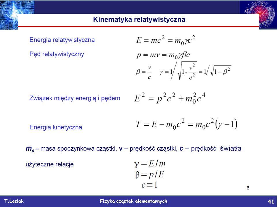 T.Lesiak Fizyka cząstek elementarnych 41 Backup