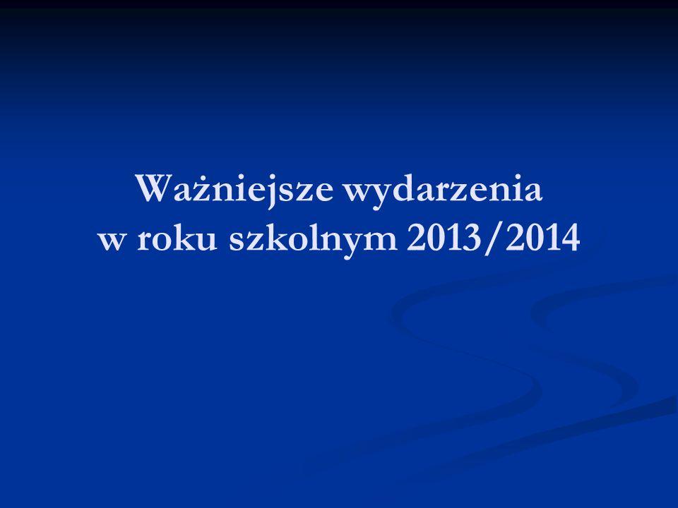 Ważniejsze wydarzenia w roku szkolnym 2013/2014