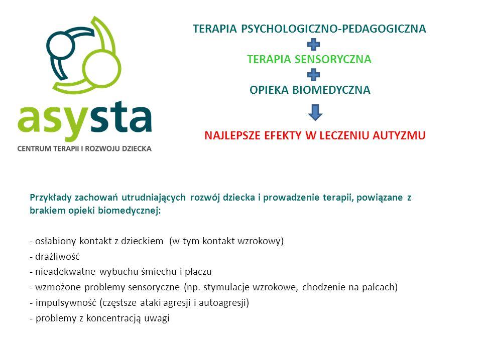 Specjalizujemy się w terapii autyzmu DZIĘKUJEMY ASYSTA Centrum Terapii i Rozwoju Dziecka, ul.