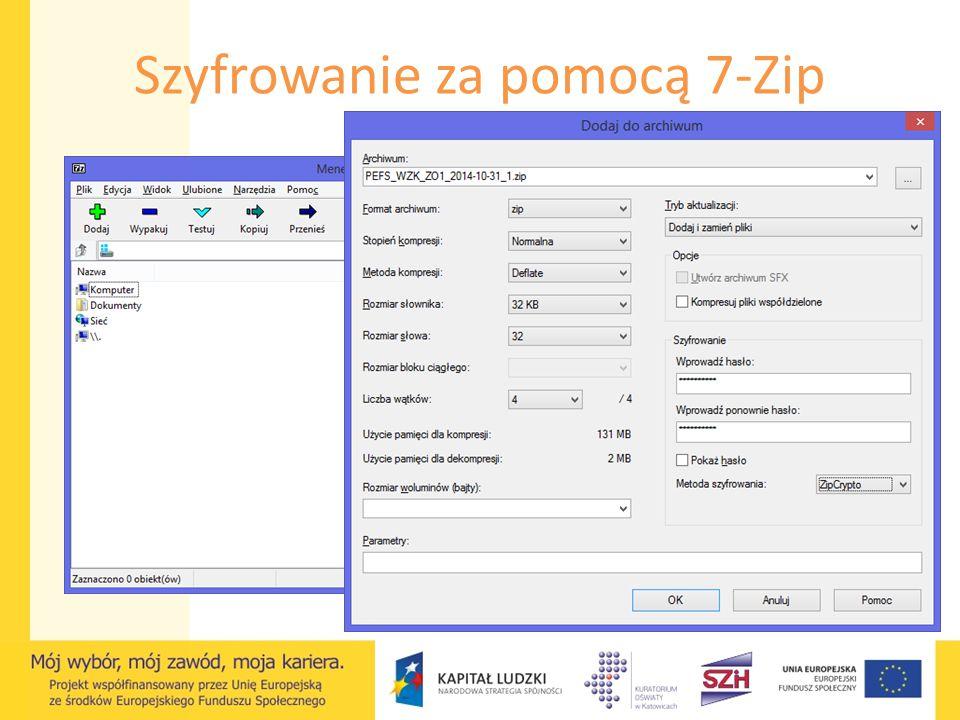 Szyfrowanie za pomocą 7-Zip
