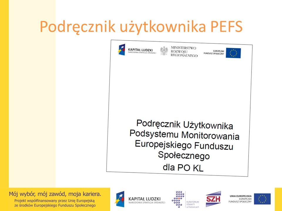 Podręcznik użytkownika PEFS